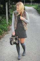 Zara dress - Zara purse - Zara vest
