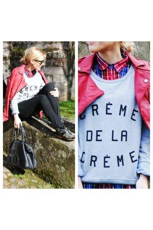 Zara boots - BERSKA jacket - Zara shirt - purificación garcía bag