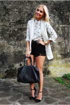 Zara blouse - Purificacion Garcia bag