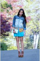 vintage bag - Jeffrey Campbell shoes - diy thrifted jacket - vintage blouse