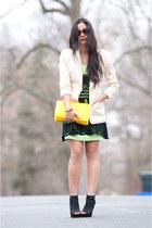 crochet mini Lord & Taylor dress - neon bright vintage dress