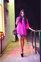night walker Jeffrey Campbell shoes - asos dress - vintage blouse