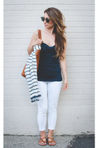 navy sweetheart abercrombie and fitch top - white cropped Old Navy jeans