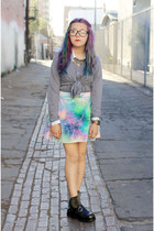 aquamarine tie dye velvet Miracle Eye skirt