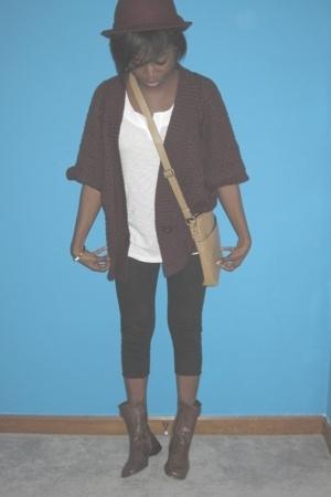 Target hat - Target purse - Target sweater - thrifted shoes - Target shirt - Tar