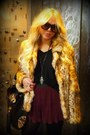 Brown-leopard-vintage-coat-black-gucci-bag-crimson-pleated-topshop-shorts-