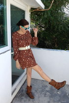 brown unknown dress - dark brown Steven Madden boots