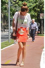 Carrot-orange-pencil-jcrew-skirt-white-boxy-crop-forever-21-top