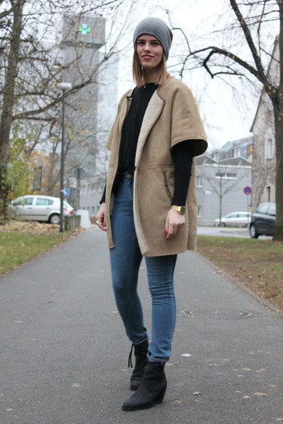 Zara coat - acne boots