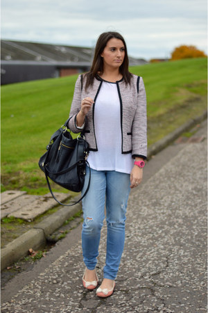 distressed abercrombie and fitch jeans - tweed Dorothy Perkins blazer