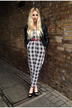 Sheinside jacket - Glamorous romper - Heelberry heels