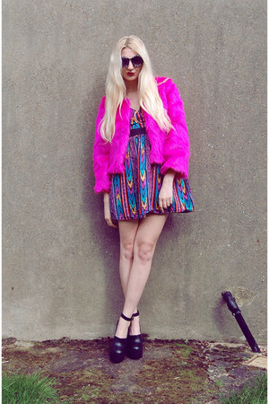 River Island shoes - asos dress - sammydress jacket - Choies sunglasses