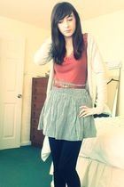 brown Primark belt - Primark skirt - Topshop t-shirt - Primark necklace