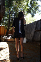 American Apparel shirt - Erin Wasson x RVCA blazer - vintage skirt - shoes - Bin