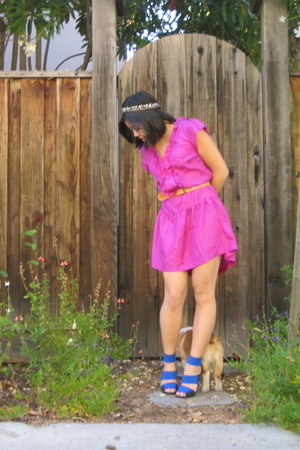 Urban Outfitters dress - vintage belt - handmade accessories - Pierre Hardy shoe