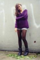 deep purple Vintage from my mom sweater