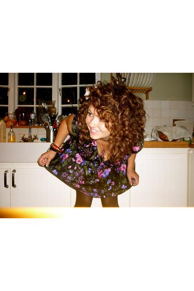 vintage dress - ted baker purse