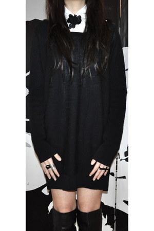 sweater - shirt - cross filigree ring - accessories