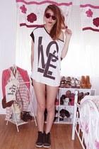 white mim top