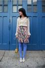 Hue-tights-basket-purse-thrifted-vintage-bag-vintage-necklace-vintage-skir