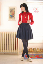 Rachel Comey shoes - Forever 21 tights - vintage skirt - lace suspenders Swan Di