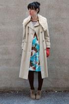 Forever 21 boots - vintage coat - Vintage from Yeye vintage via etsy skirt - H&M