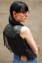black vintage vest