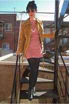 American Apparel dress - vintage on etsy jacket - H&M tights - the vamoose neckl