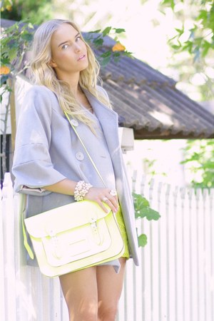Wayne Cooper coat - Cambridge Satchel co bag - River Island skirt