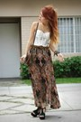 Tawny-hallelu-skirt-black-fashionpash-heels-white-vintage-top