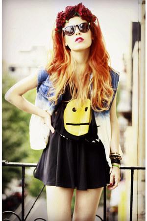 Rock n Rose hat - GoodNight Macaroon skirt - wilmawinston t-shirt
