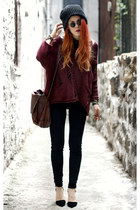brick red Alainnbella jumper - black Jessica Buurman shoes