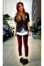 Black-romwe-shoes-crimson-markethq-leggings
