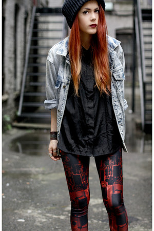 BlackMilk leggings - vintage jacket - Market HQ blouse