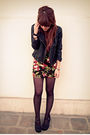 Black-forever21-jacket-black-forever21-dress-black-steve-madden-shoes