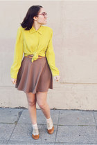 camel Forever 21 skirt - tawny Forever 21 shoes
