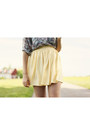 Light-yellow-mini-american-apparel-skirt-white-oxfords-urban-outfitters-shoes