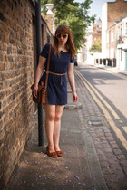 Vero Moda dress - Cambridge Satchel Company bag - APC loafers - COS belt