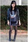 Black-forever-21-t-shirt-black-forever-21-skirt-h-m-by-madonna-jacket-blac