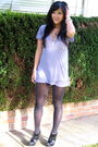 Gray-monrow-t-shirt-black-urban-outfitters-tights-black-army-and-navy-shoes
