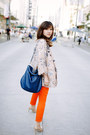 Beige-zara-jacket-carrot-orange-zara-pants