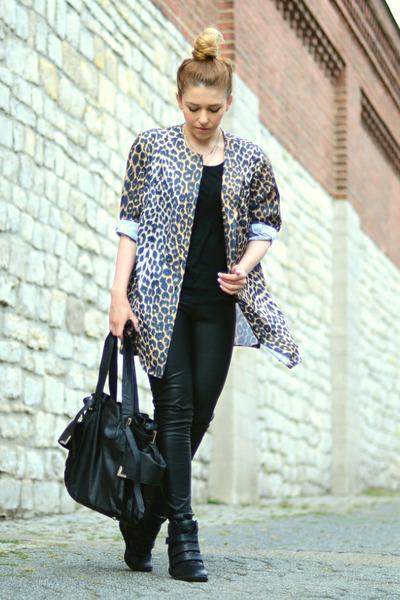 black wedges reserved sneakers - black leather Sheinside pants