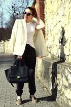 ivory vintage blazer - brown leopard slip on asos sneakers