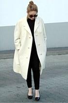black studs Zara jeans - black reserved sunglasses