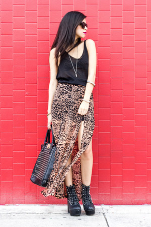leopard bra UNIF bra - Jeffrey Campbell boots - Urban expression bag