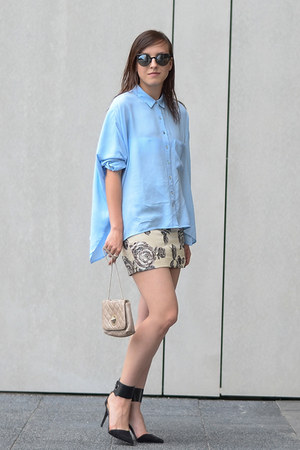Front Row Shop skirt - sky blue Front Row Shop shirt