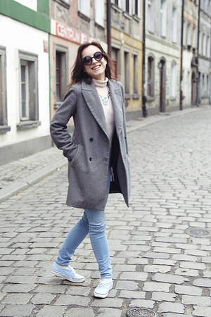 heather gray Zara coat