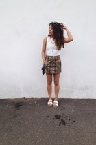 Topshop shoes - Mango bag - H&M skirt - vintage top