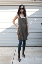 Armani Exchange dress - unisa boots - HUE tights