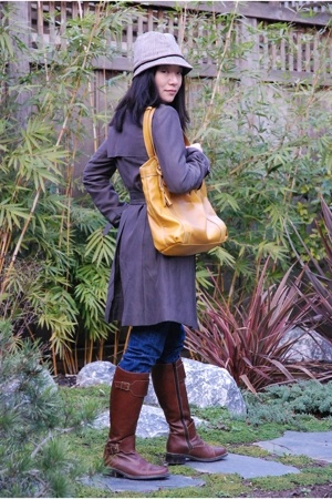M Premier jacket - August hat - liz claiborne purse - Rieker boots